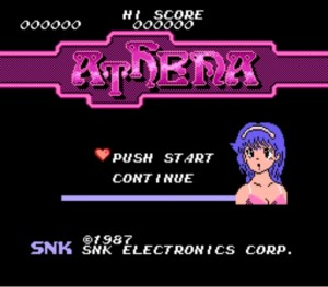 Athena Nintendo NES Title Screen