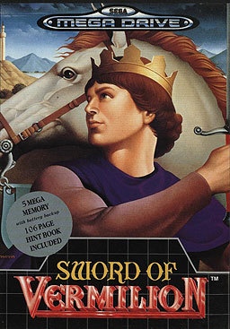 Sword of Vermilion Sega Genesis Box
