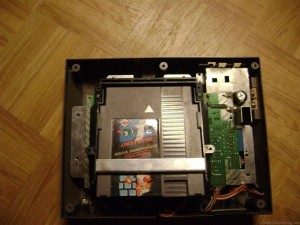 Nintendo NES with top cover removed