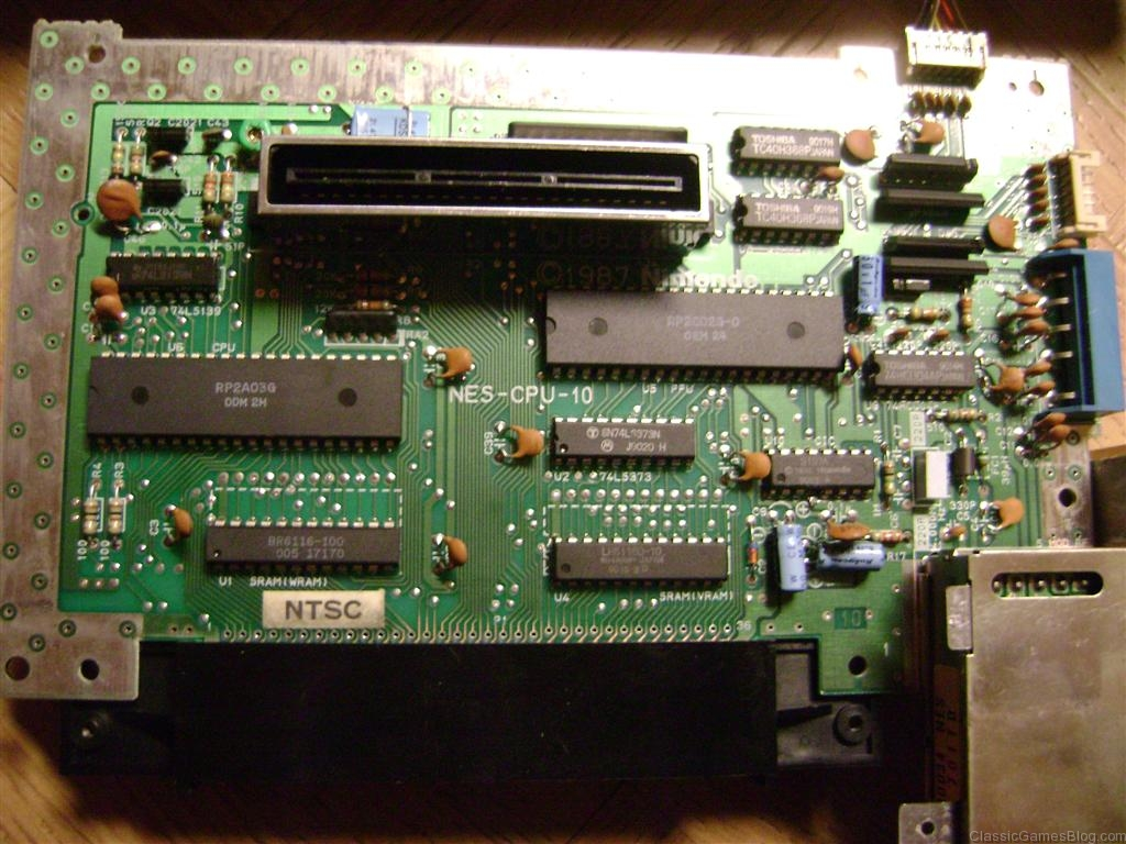 Repair And Modding Diagnostic Of Electronic Circuit Board Stock Photo Nintendo Nes Motherboard Version 10 From 1987