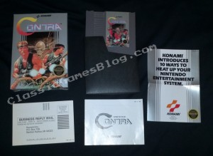 Contra by Konami for the NES complete in box (CIB)