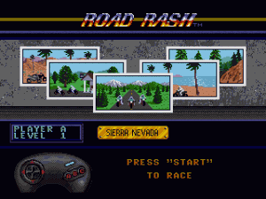 Road Rash Level Select