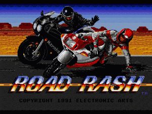 Road Rash Title Screen