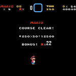 Super Mario World Course Clear