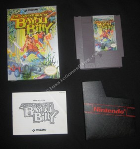 Bayou Billy NES Complete in Box - Front