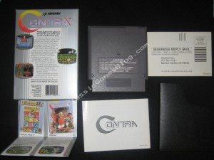 Contra NES Complete in Box - Back