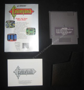 Castlevania NES Complete in Box - Back