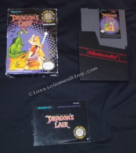 Dragon&#039;s Lair Complete in Box (CIB) for the Nintendo NES
