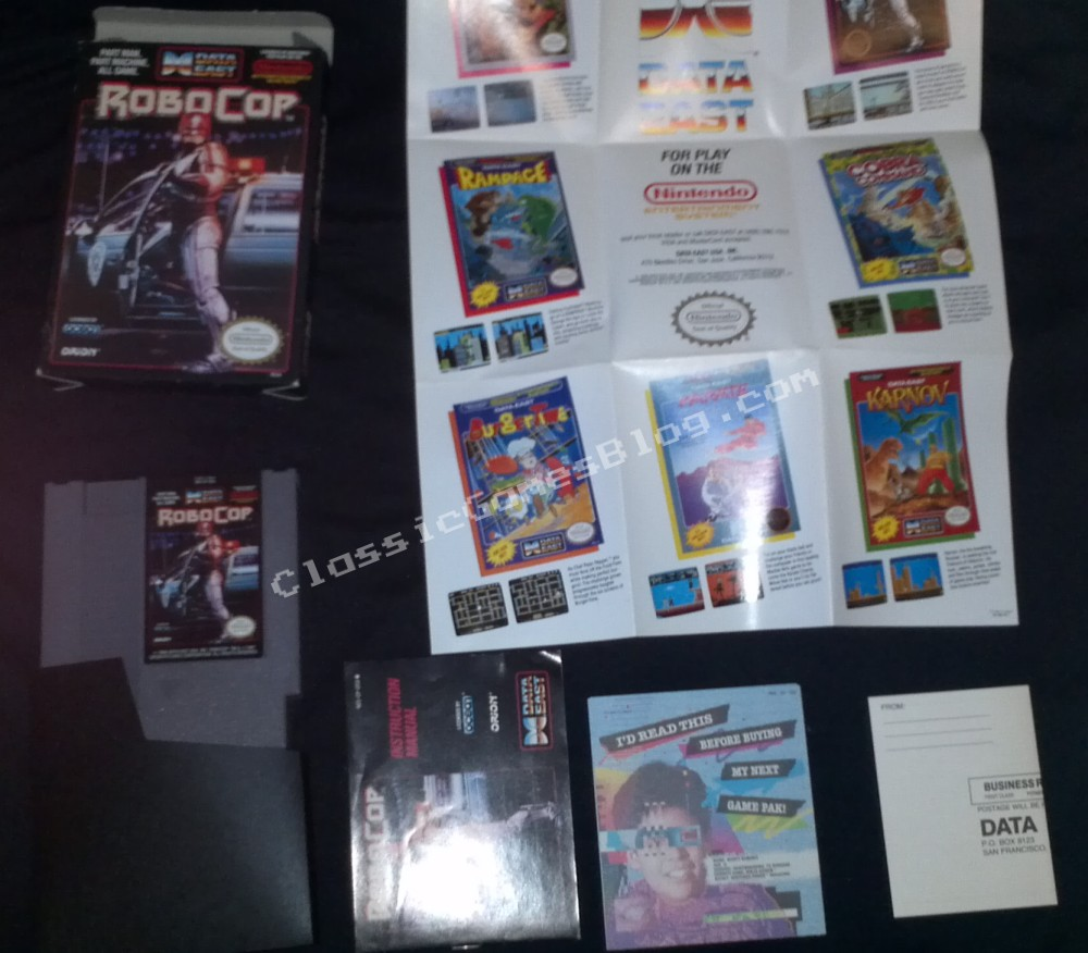 Robocop Complete in Box (CIB) for the Nintendo NES