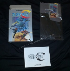 Super C Complete in box (CIB) for the Nintendo NES.