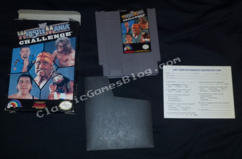 WWF Wrestlemania Challange Complete in Box (CIB) for Nintendo NES