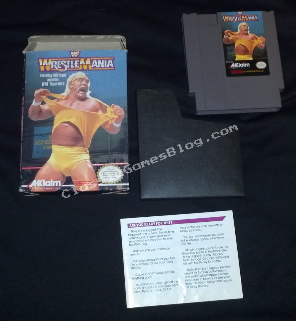 WWF Wrestlemania Complete in Box (CIB) for the Nintendo NES