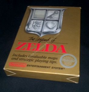 The Legend of Zelda Box for the Nintendo NES