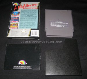 A Nightmare on Elm Street NES CIB Back