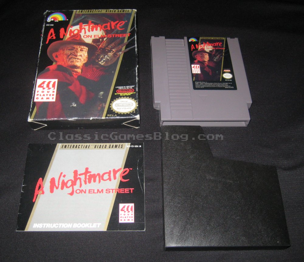 A Nightmare on Elm Street NES CIB Front
