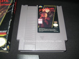 A Nightmare on Elm Street NES Game Front