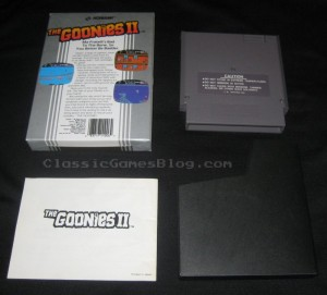 Goonies2  NES Back Box