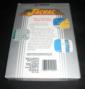 Jackal NES Box Back