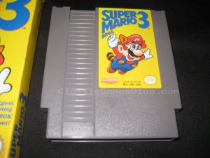 Super Mario Bros 3 NES Game Front