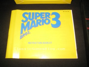 Super Mario Bros 3 NES Instruction Manual Front