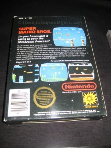 Super Mario Bros NES Back