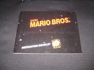 Super Mario Bros NES Instruction Manual Front