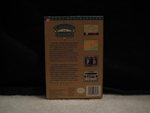 Nes Box Legends of the Diamond Back