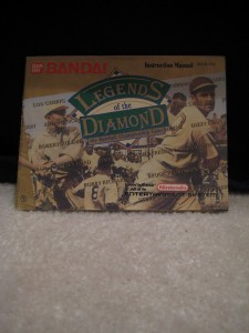 Nes Box Legends of the Diamond Instruction Manual