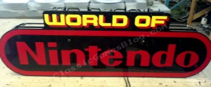 World of Nintendo Neon Sign Back Side