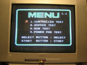 NES Test Station Menu
