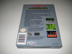 Advanced Dungeons & Dragons Dragons of Flame Back