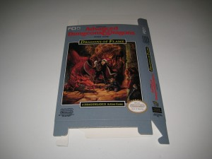 Advanced Dungeons & Dragons Dragons of Flame Front Flat