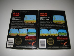 Duck Hunt Original Release & Rev-a Variant CIB back