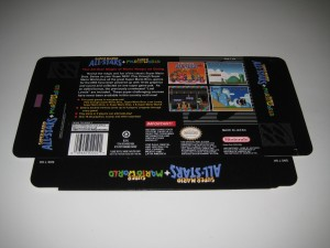 Super Mario All Stars & Super Mario World Back Flat