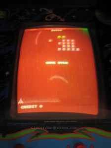 Galaga monitor bad colors