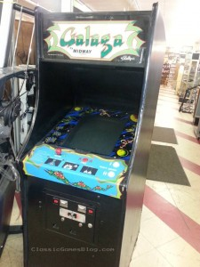 My Galaga arcade machine at the thrift store